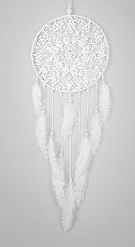 White Dream Catcher Large Dreamcatcher Crochet