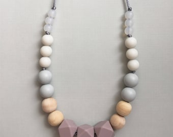 Spring Blossom - Geometric Bead Silicone Teething Necklace