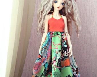 Summer dress for 1/4 slim msd bjd doll Minifee
