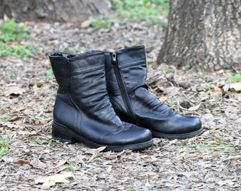 Vintage womens leather boots, Women boots, Black leather boots, Vintage boots, Ladies' boots, Winter Boots