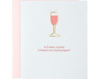 Even A Party? Paper Clip Letterpress Card
