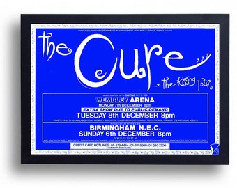 The Cure Framed Gig Poster Print