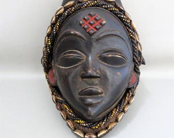African feminine Okuyi mask-MUKUYI-PUNU-Gabon-Tribal art primitive art-Africa-ancestor mask-gift for Men woman