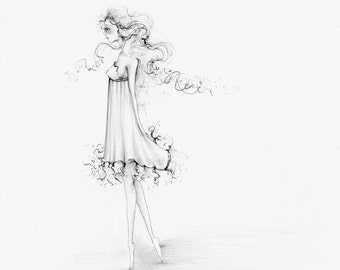 Fashion Illustration, Fashion Wall Art, Fashion Print, Fashion Art Print, Minimalist Art, Minimalist Fashion Illustration, Girl Art Print