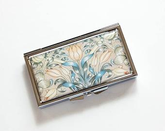 Flower pill case, 7 day pill box, Pill case, Pill Container, 7 sections, 7 day, Pill Box, Venetian Design, Venetian Print (8582)
