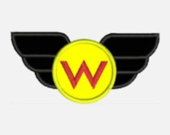 Super Hero Wings...Embroidery Applique Design...Three sizes for multiple hoops..Nine Formats Included...Item1580