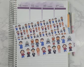 Horror Character Doodle Stickers Second Edition
