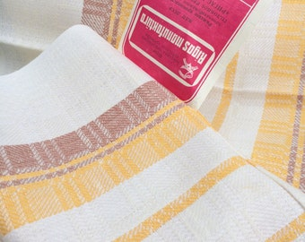 Linen/Cotton Mix Retro Towel (1979) - Made in Soviet Union - New! Not used (has a label on it)