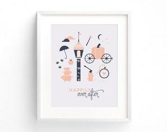Happily Ever After Letterpress Art Print
