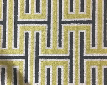 Upholstery Fabric - Muriel - Wheatgrass - Cut Velvet Home Decor Upholstery & Drapery Fabric by the Yard - Available in 14 Colors