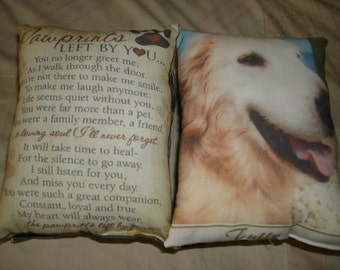 """2sided Pet Tribute Custom Made Personalized 8x10"""" Photo Pillow GREAT GIFT! Send Me Your pic Heaven 2018"""