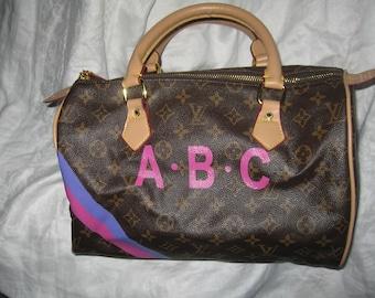Louis Vuitton Doctors Bag Speedy 30 Purse Repurposed ABC