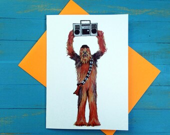 Chewbacca say anything greeting card