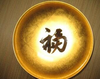 Japanische Lack Sake Reis Wein Likör Untertasse mit Goldfolie für Wohnkultur