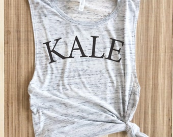 Kale-,Kale tshirt, Kale shirt, Vegan Shirt, Vegetarian Shirt,Kale Tee, Funny Vegan, Vegetarian, Kale Top,muscle tee, muscle tank, kale