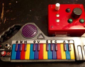 Circuit Bent Mini Piano by Ok Housecat