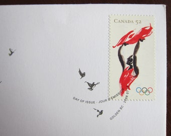 First Day Cover or Day of Issue Canadian Stamps, The Games of the XXIX Olympiad - For Collage & other Multi-Media Art and Projects
