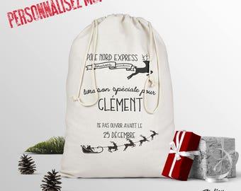 The personalized Santa sack