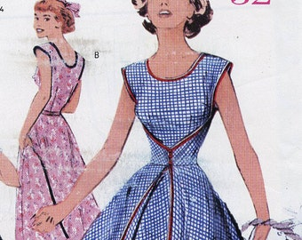 Retro '52 Butterick Sewing Pattern P408 - Fast & Easy Swing Time Dress circa 1952 - Complete