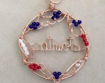 Patriots Wire Written Copper Sun Catcher Ornament