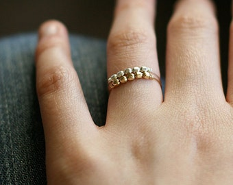 """gold and silver ring set - stacking rings - two ultra light beaded rings - mixed metal jewelry - super thin rings - """"libra"""" ring set"""