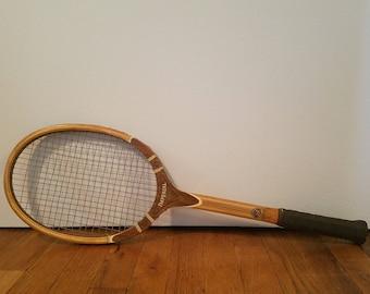 Wooden Vintage Tennis Racket Racquet Tad Davis Imperial 60s