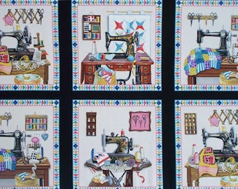 """Stitch In Time cotton panel -- approximately 23""""x44"""""""