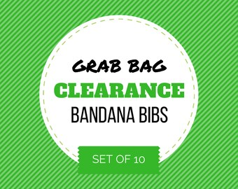 CLEARANCE GRAB BAG - Set of 10 Baby Bandana Bibs ||| (bibdana, bibdanna, baby bandana, baby bandana bib, baby drool bib, baby shower gift)