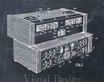 Electronic Chess Clock Patent Print Chess Art Print