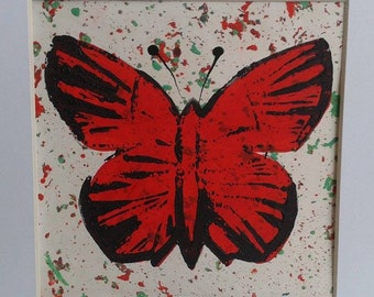 Butterfly Lino print