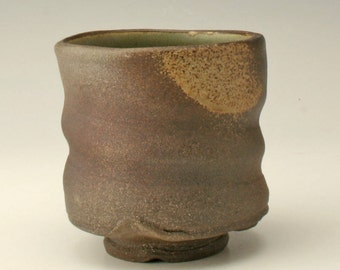 Stoneware cup with rustic finish, pottery cup, brown yunomi, Japanese tea bowl, ceramic cup, clay cup, teabowl, Shikha, pottery by shikha