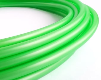 UV Reactive Metallic Bright Green 5/8 Polypro Hula Hoop// Customizable// Light Weight//Trick Hoop//Dance Hoop
