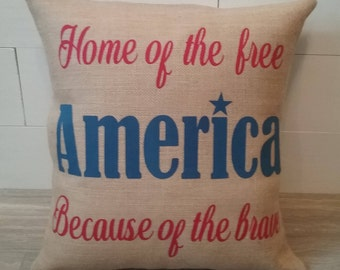 4th of July outdoor decor pillow covers, America red white and blue USA