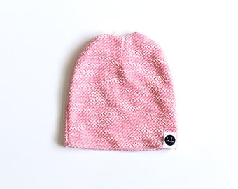 Light Pink Textured slouch beanie