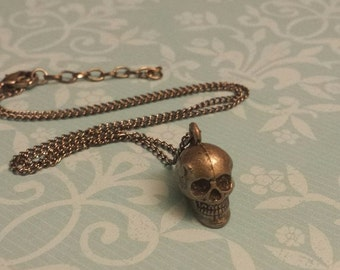 Sale! Small Skull charm necklace