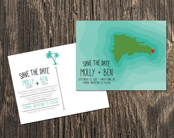 Dominican Republic Save the Date, Destination Wedding Save the Date, Wedding Save the Dates