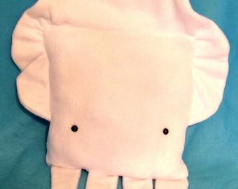 square Squid Throw Pillow Plush