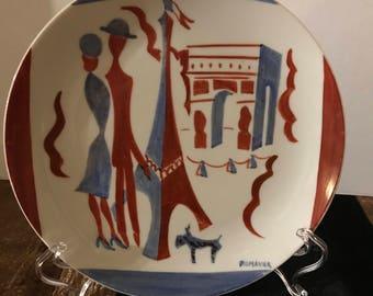 Limoges Hand painted Plate Paris