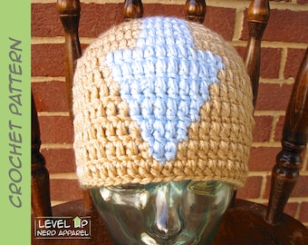 Elemental Master beanie CROCHET PATTERN || 6 sizes || Instant Download