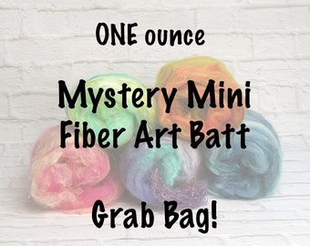 Mini Fiber Art Batt for Spinning or Felting - 1 ounce