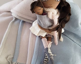 Handmade Doll Baby Sling / Doll Baby Carrier / Doll Baby Wrap / Doll Accessory / Doll