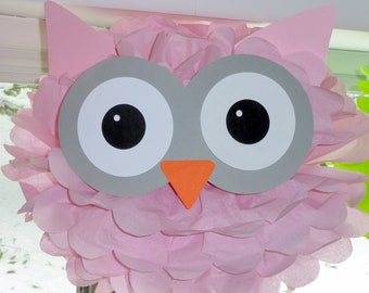 Owl pom pom kit baby shower first birthday party decoration