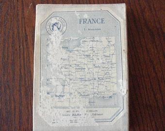 Ephemera...Linen backed French map