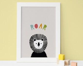 Lion Wall Art Nursery, childrens Wall Art, Childrens Decor, Nursery Printable, Wall Art Nursery, 8x10 printable