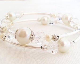 Bridesmaid Bracelet, Bridesmaid Gift, Pearl Bracelet, Bridesmaid Jewellery, Pearl Jewellery, Wedding