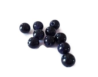 Dark blue stone beads 8mm star