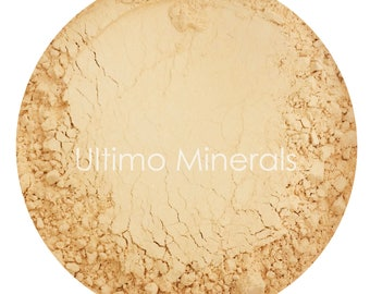 Ultimo Minerals HONEY LIGHT All-Natural Kosher Full-Coverage Mineral Foundation - Soft Pearlescent Finish - FREE Shipping!