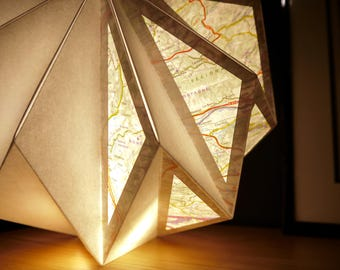 Light paper and map