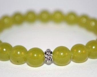 Peridot Leo Emotional Healing Crystal Healing Gemstone Bracelet Amelie Hope Crystals Power Bead