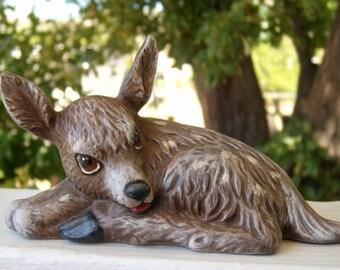 fawn, ceramic fawn